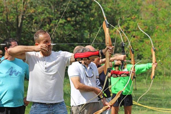 Activité tir à l'arc au village Chadenas à Embrun