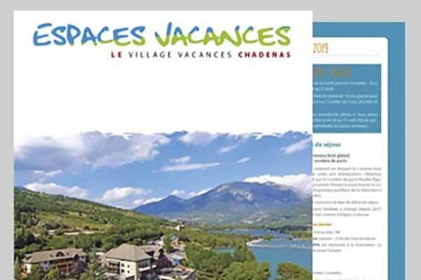 Brochure du village le Chadenas