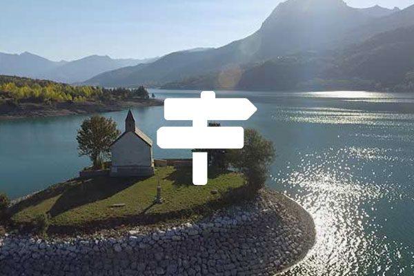 Baie Saint Michel sur le lac de Serre-Ponçon