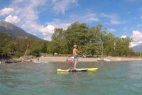 Activité paddle au lac de Serre-Ponçon