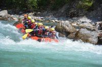 Activité rafting en groupe