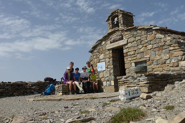Groupe de randonneurs au Mont Guillaume