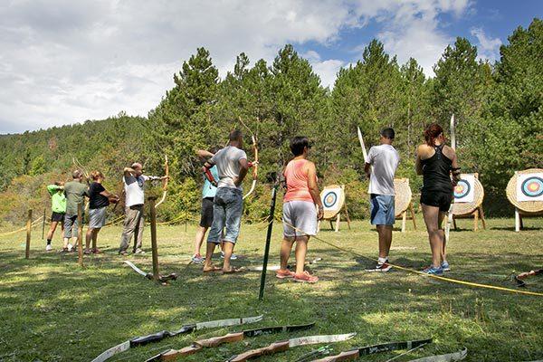 Activité tir à l'arc au village vacances Le Chadenas