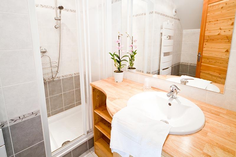Salle de bain hébergement en chambre